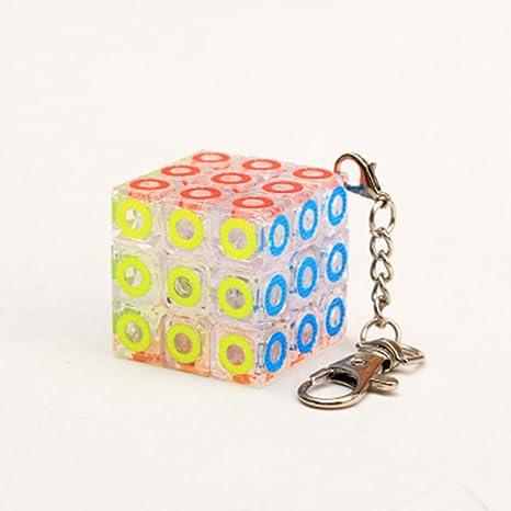 ZAOZINIU- Toque de Dedos Cubo de Rubik Llavero de Tercer ...