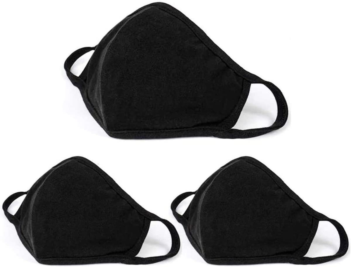 3-PACK Workout Mask for Gym//Exercise Reusable//Washable Black