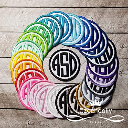 Monogram Patch Iron-on or Sew-on Applique Embroidered Patch for Uniforms, Backpacks, Christmas Stockings, Luggage