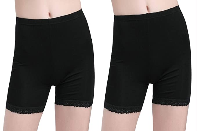a41107e2f7 Vinconie Under Dress Shorts Women Lace Slip Shorts Knee Length Leggings  Women