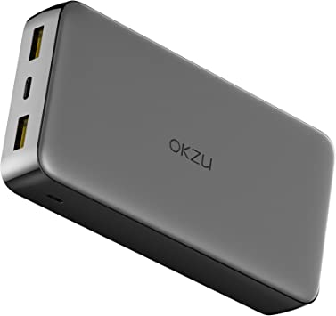 OKZU 20000mAh Cargador portátil de Carga rápida 3.0, 18 W PD USB C Power Bank, batería Externa portátil para iPhone XS/XS MAX/XR, Galaxy S9/S8, Nintendo Switch, etc.: Amazon.es: Electrónica