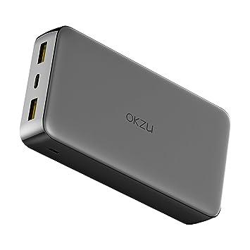 OKZU 20000mAh Cargador portátil de Carga rápida 3.0, 18 W PD ...