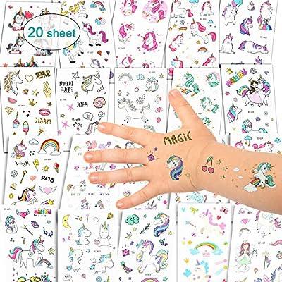 Etiquetas adhesivas Unicornio Tatuajes Temporales - Unicornio ...