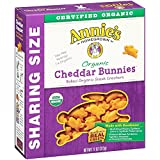 Annies Organic Cheddar Bunnies, Baked Snack Crackers, 11 oz Box (Pack of 4)
