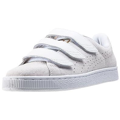 Puma Basket Strap ExoticSkin W chaussures, Blanc, *: Amazon