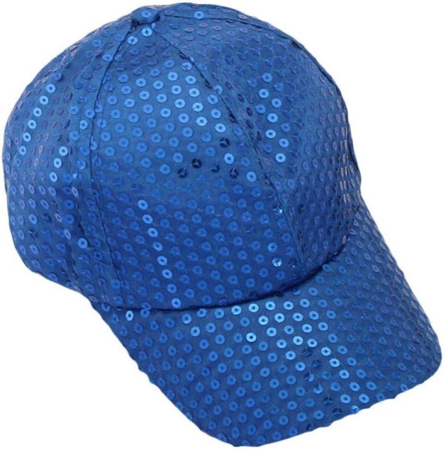 Xinantime Sombrero, Lentejuela Gorra De Beisbol Paño (Azul ...