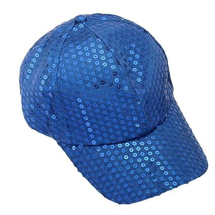 Xinantime Sombrero, Lentejuela Gorra De Beisbol Paño (Azul)