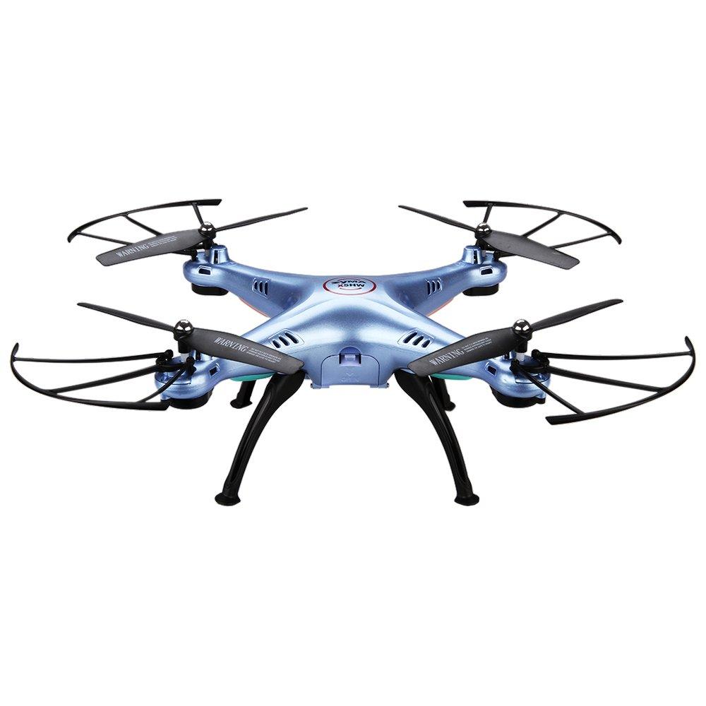 Syma X5HW WIFI 空撮カメラ付 マルチコプター 2.0MP HD ラジコン ドローン 6軸 3D飛行で宙返り ヘッドレスモード ブルー
