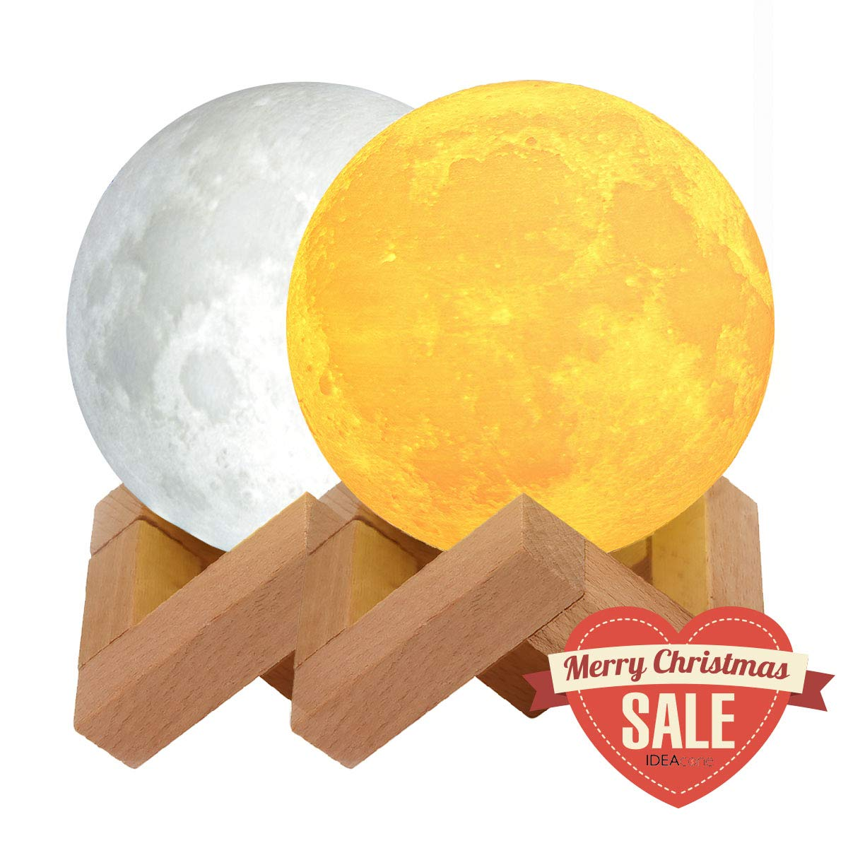 Ideacone Moon Light Lamp Luna Modern Home 3d Yellow Circuit Board With Space For Text Gl Stock Images Printing Warm Cool White Double Switch Night Wooden Mount