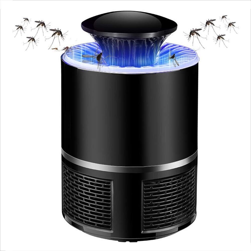 Lampada Anti Zanzara -LED Fly Killer,   Trappola per Insetti con Inalatore Nessuna Radiazione   Usato per Neonati, in Stato di Gravidanza JINRONG (colore   Nero)