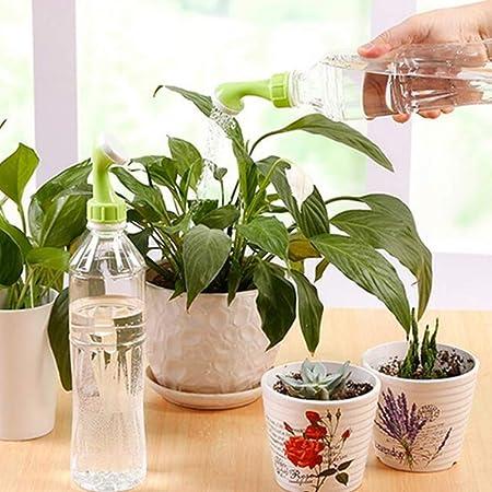 CDKJ: Boquilla de riego de plástico para Plantas, aspersores, Boquilla, Botella, Botella de Agua, convertidor de Boquilla, 1 Juego (2 Piezas), Color Verde: ...