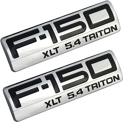 2004-2008 Ford F-150 Front Fender Emblem Name Plate Badge Set of 2 OEM NEW