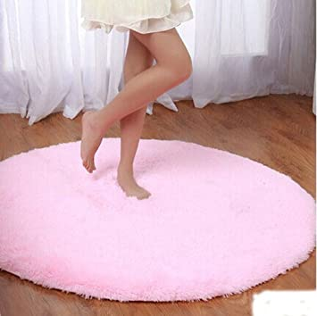Delicieux Igirls Round Silky Rugs 60u0026quot;,princess Your Daughteru0027s Bedroom!cute  Bright Shaggy Area