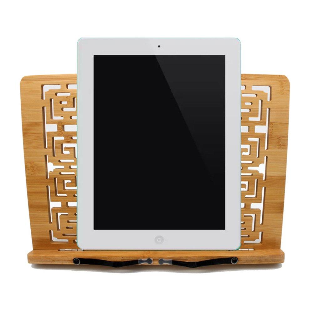 AIU bambù naturale libro supporto bella Hollow lettura di legno di bambù di 3diverse misure 34 * 24cm