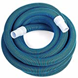 """KCHEX>Swimming Pool Deluxe 30FT No Kinks Vacuum Hose w/Swivel Cuff 1 1/2"""" Diameter>1 1/2"""" Vacuum Hose Features Full Flow, Smooth Inside Walls and UV Protection. for use with All Pool vacuums Swivel"""