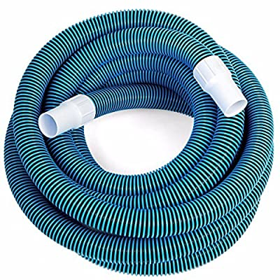 "KCHEX>Swimming Pool Deluxe 30FT No Kinks Vacuum Hose w/Swivel Cuff 1 1/2"" Diameter>1 1/2"" Vacuum Hose Features Full Flow, Smooth Inside Walls and UV Protection. for use with All Pool vacuums Swivel"