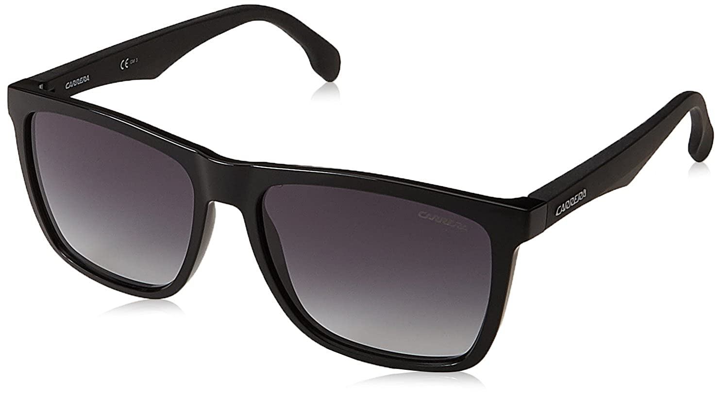 Carrera Men's Ca5041s Rectangular Sunglasses, Black/Dark Gray Gradient, 56 mm CARRERA5041/S9O_807-56