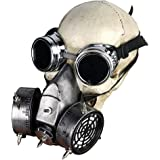 Steampunk Goggles Glasses Gas Mask Cosplay Props Gothic Anti-Fog Haze Men Women Halloween Mask Cosplay Props