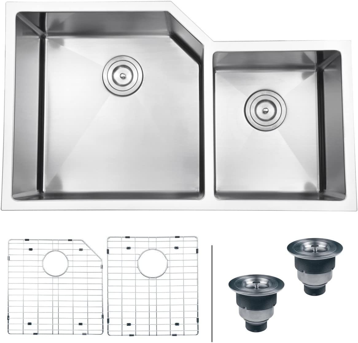 Ruvati 33 Undermount 16 Gauge Double Bowl Kitchen Sink – RVH8150