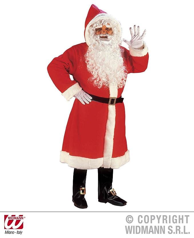 ...M//L Handschuhe Set mit Sack Luxus Weihnachtmann Mantel mit Perücke Bart