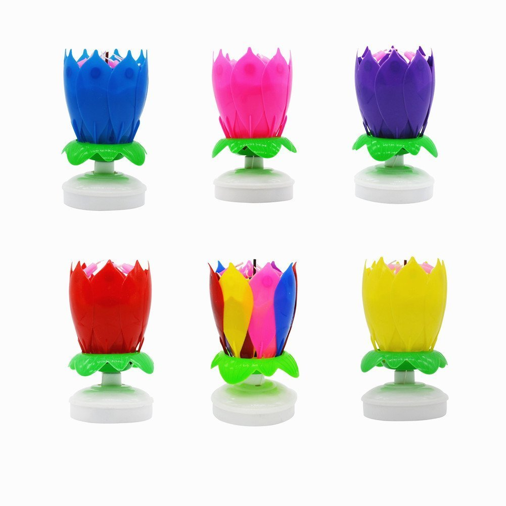AGDREAM Happy Birthday Candle, Cake Candles (6 x Multicolors)
