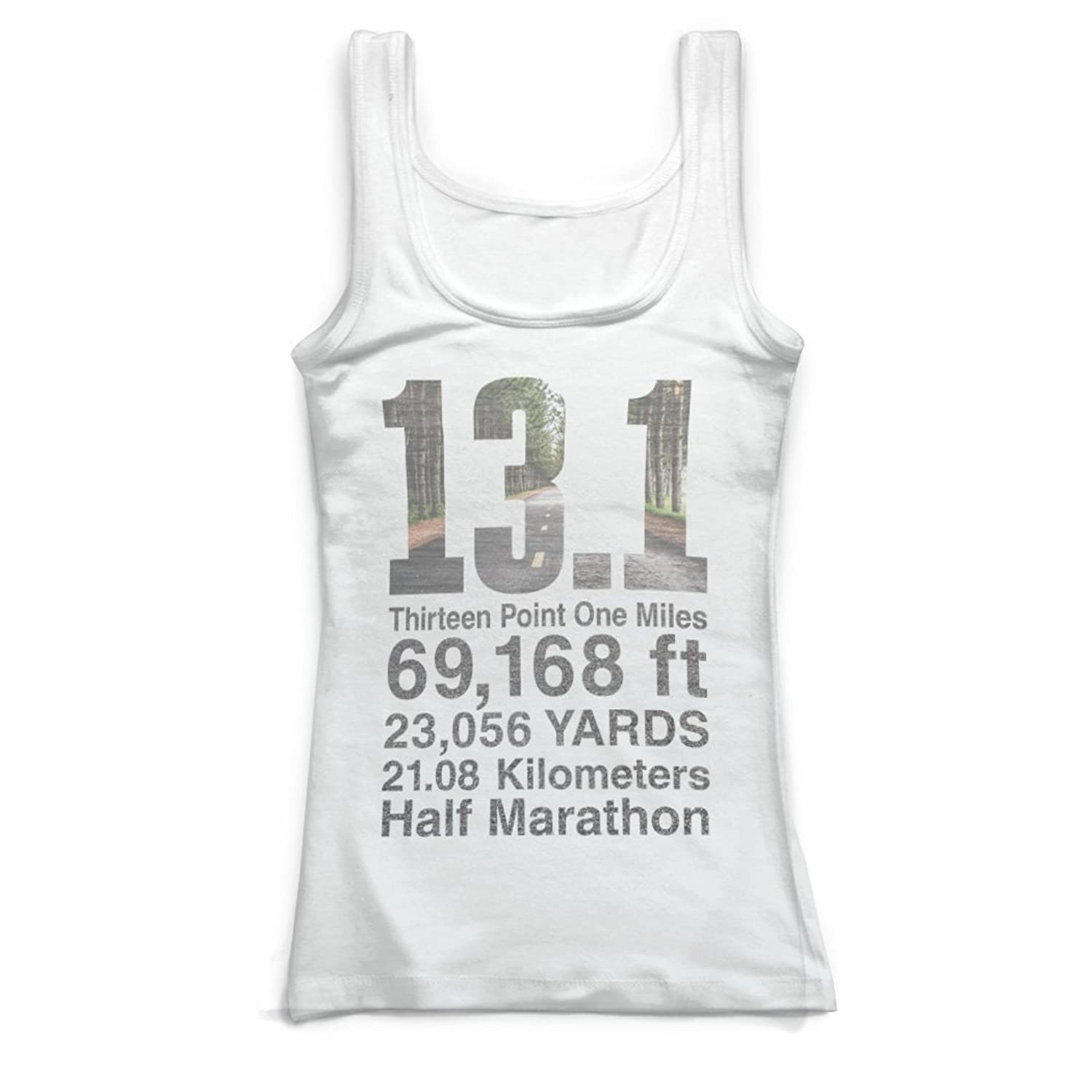Gone For a Run Running Vintage Fitted Tank Top - 13.1 Math Miles
