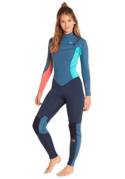 745bba6cc9 Billabong Womens Furnace Synergy 3 2MM Chest Zip Wetsuit Slate - Easy  Stretch Thermal Furnace