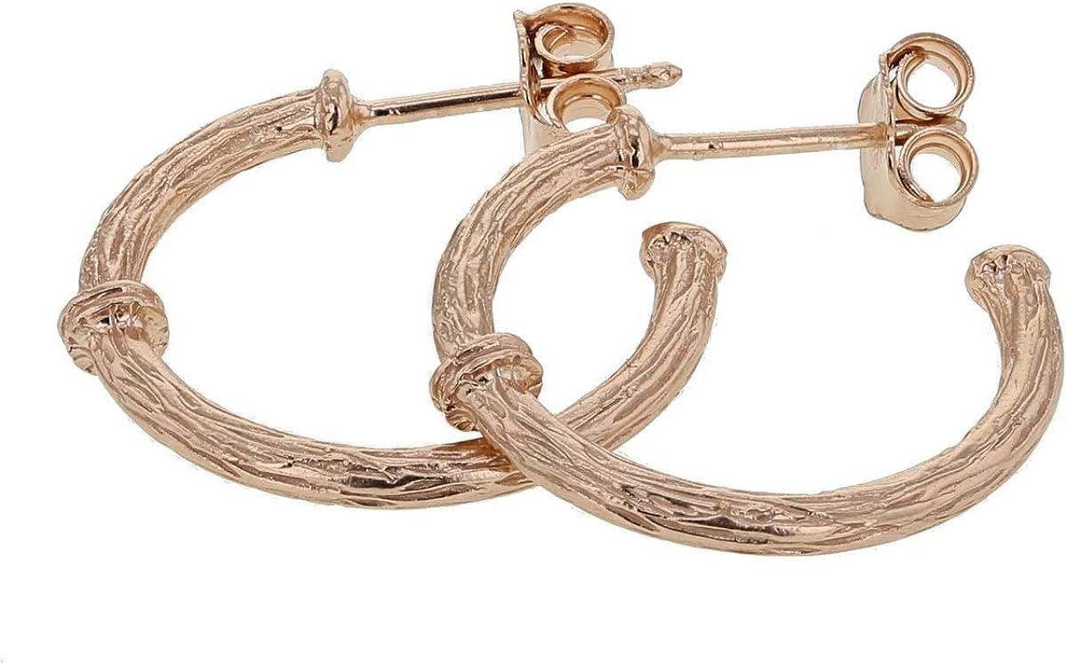 Pendientes para mujer June-June de la colección Savage de plata 925/1000 rodiada.