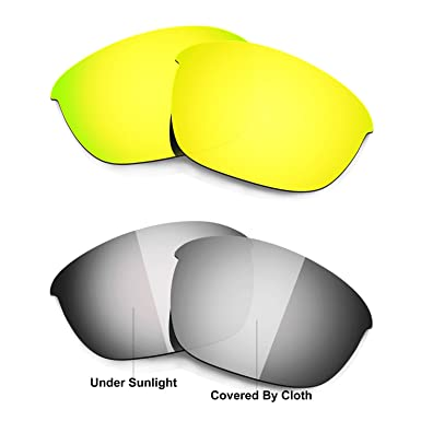 HKUCO Titanium/Transition/Photochromic Polarized Replacement Lenses For Oakley Half Jacket 2.0 Sunglasses uc6JS