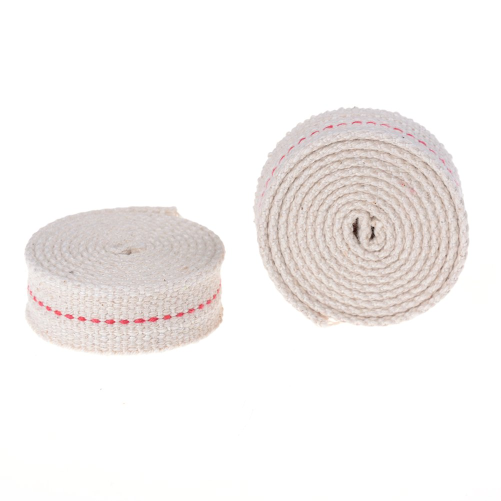 2PCS Cotton Flat Wick Roll Cotton Oil Lantern or Oil Lamp Wick for Paraffin Oil or Kerosene Based Lanterns and Oil Lamps with Genuine Red Stitch amazing-trading