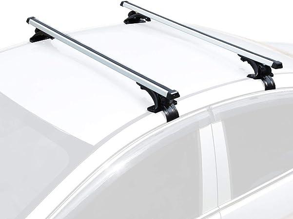 "Kayak Rack Fit SUV Vehicles with Factory Grooved Flush Rails and Raised Rails Idea for Ski Rack 4 Legs with Key Lock PHATRIP Universal Roof Rack Crossbars Set Bike Rack 53/"" Aluminum Bars"