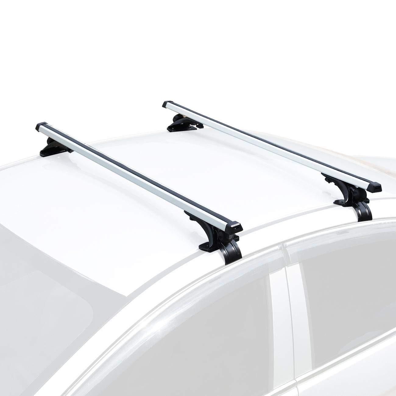 Kayak Roof Rack For Cars Without Rails >> Auxmart Universal Roof Rack Crossbars Width Less Than 48 Adjustable For Most Vehicle Wagon Car Without Roof Side Rail Pack Of 2 150lbs 68kg