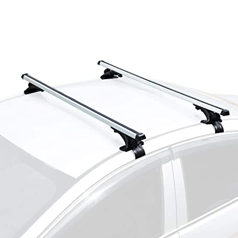 """AUXMART Universal Roof Rack Crossbars Width Less Than 48"""" Adjustable for  Most Vehicle Wagon Car Without Roof Side Rail (Pack of 2) 150LBS /68KG"""