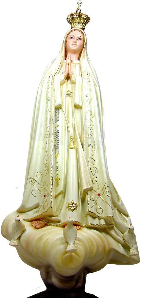 24 Inch Our Lady Of Fatima Hand Painted Statue Religious Figurine Virgin Mary Made In Portugal #1036V