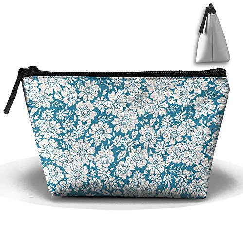 White Daisy Portable Zipper Travel Organizer Stylish Cosmetic Bags Make Up Bag Toiletry Bag Brush Organizer Coin Purse Pencil Holder For - Lenses White Contact Plain