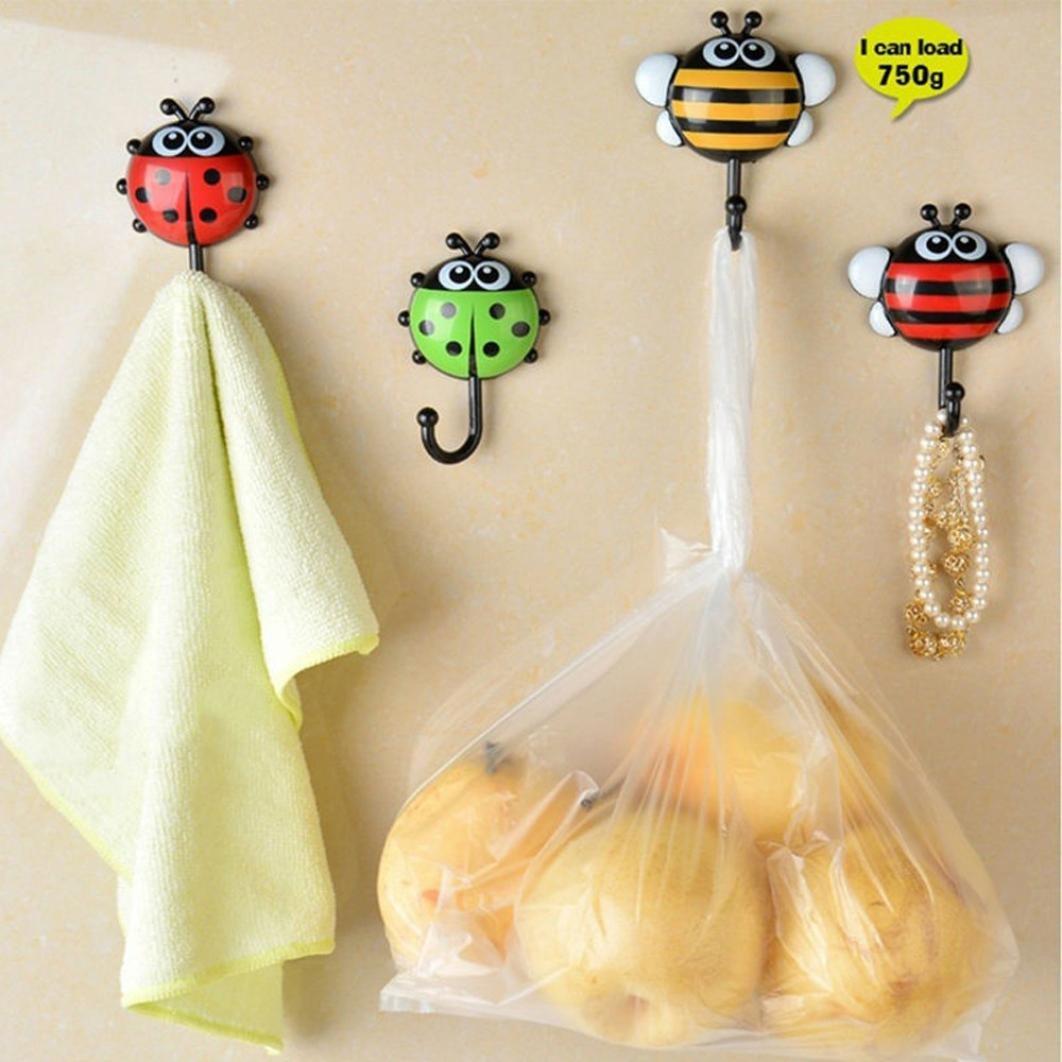 Amazon.com: E-SCENERY 2Pcs Cartoon Ladybug Suction Hooks, Wall Hooks ...