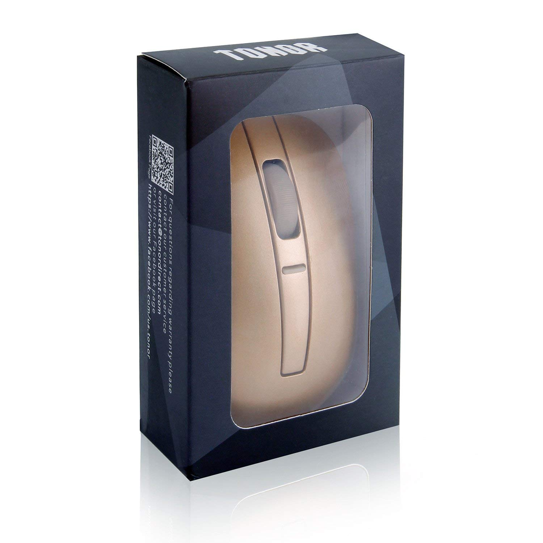 Tonor Super Delgado Bluetooth 3.0 rat/ón /óptico inal/ámbrico port/átil 800//1200//1600 dpi Blanco
