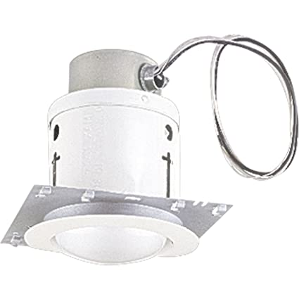 798cd390a030 Progress Lighting P6917-TG Complete Round Open Unwired Trim with Plaster  Frame and Clips and 4-1 2-Feet of Wire that is UL Listed for Damp Locations  ...
