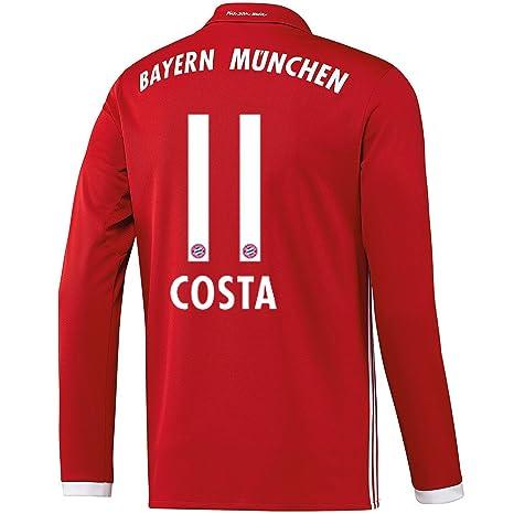 Adidas – Maglietta FC Bayern München Costa Home 2017 a Maniche Lunghe 8ad1c77017d