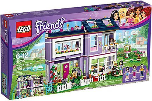 House Ultimate Lego Building (Emma's House Building Set with 3 Mini-Doll Figures, Modular House, Table with 3 Chairs & More)