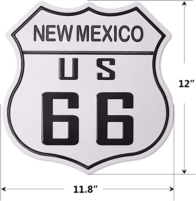 13x12 Inch New Mexico ROUTE 66 vintage style Porcelain Enamel Sign