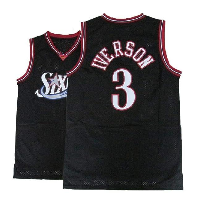 Amazon.com: Camiseta de baloncesto para hombre de Iverson #3 ...
