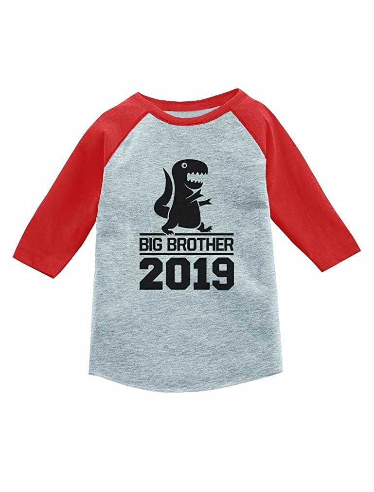 Gift for Big Brother 2019 T-Rex Boy 3/4 Sleeve Baseball Jersey Toddler Shirt GaMPthrgm8
