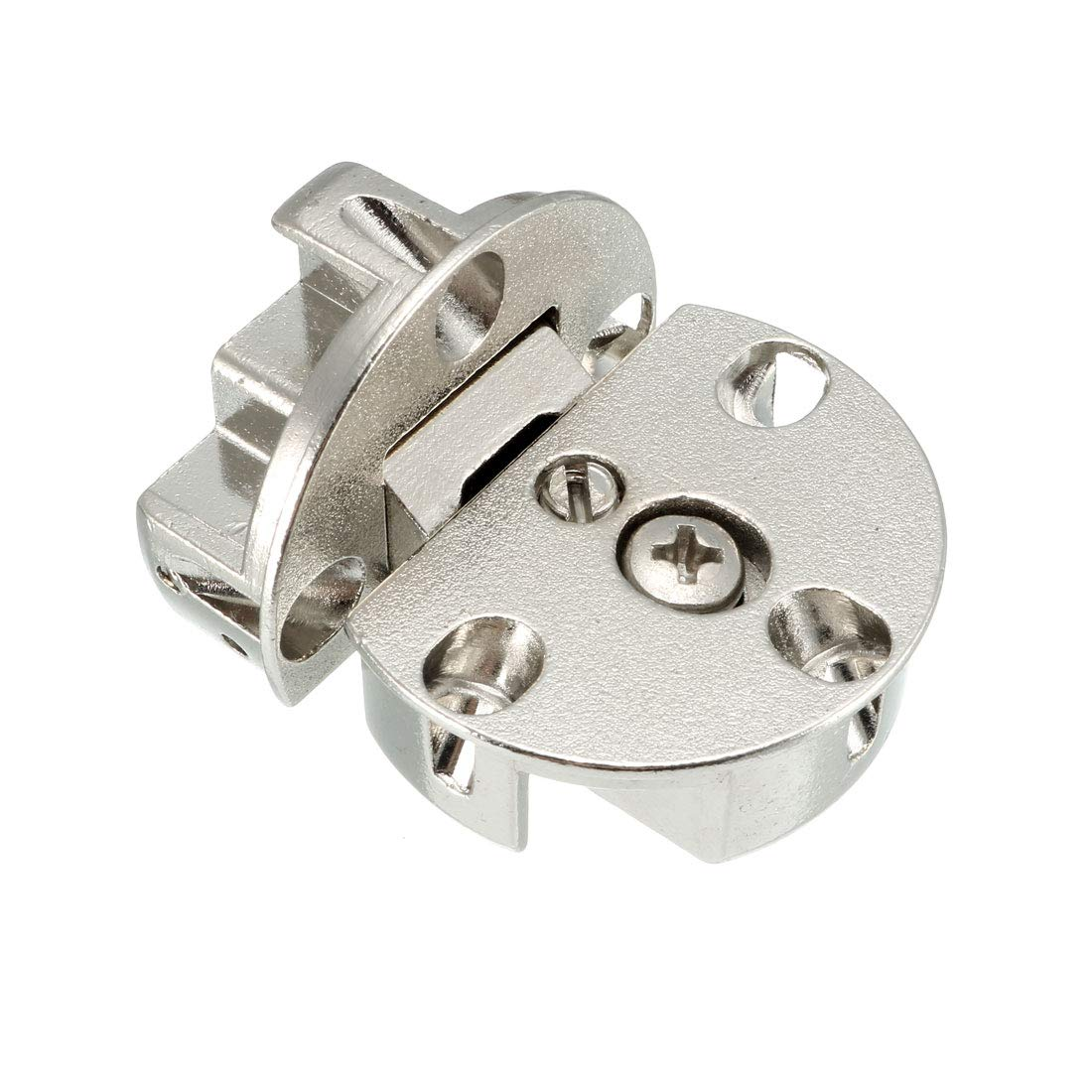 uxcell 4set 59mm Stainless Steel 360 Degree Rotating Door Pivot Hinge Silver Tone