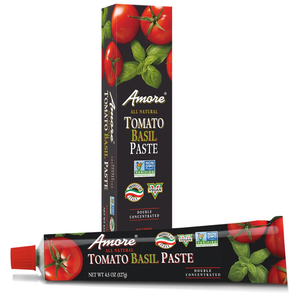 Amore All Natural Tomato Basil Paste, 4.5 Ounce Tube