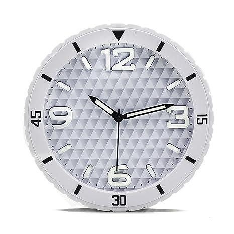 Fashion capital Neumático Diseño Color Caramelo Reloj de Pared Luminoso Mudo Moda Simple Ambiente Estéreo Reloj