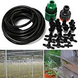 Pink Lizard 5m 16ft Outdoor Garden Misting Device Cooling System 10pcs Mist Nozzle Sprinkler Drip Irrigation