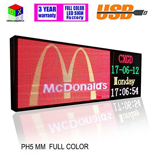 - RGB Full color 39x14inch P5 Indoor LED Message Sign Moving Scrolling led Display Board for shop windows