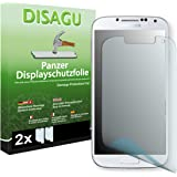2 x DISAGU Film blindé film de protection d'écran pour Samsung Galaxy S4 film de protection contre la casse