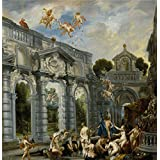 high quality polyster Canvas ,the Replica Art DecorativePrints on Canvas of oil painting 'Jordaens Jacob El amor de Cupido y Psique Ca. 1630 ', 12 x 12 inch / 30 x 31 cm is best for Bathroom gallery art and Home decor and Gifts